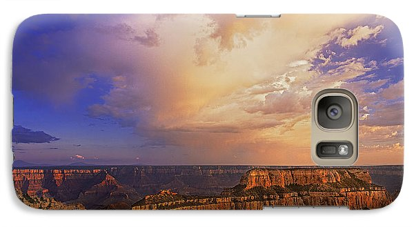 Galaxy Case featuring the photograph Clearing Storm Cape Royal North Rim Grand Canyon Np Arizona by Dave Welling