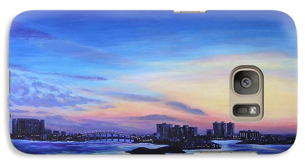 Galaxy Case featuring the painting Clearwater Beach Sunset by Penny Birch-Williams