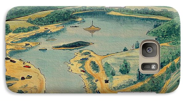 Galaxy Case featuring the painting Clearwater Lake Early Days by Kip DeVore