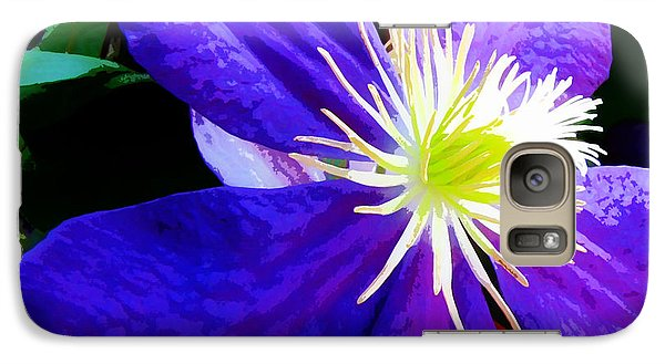 Galaxy Case featuring the photograph Clematis In Watercolor by John Freidenberg