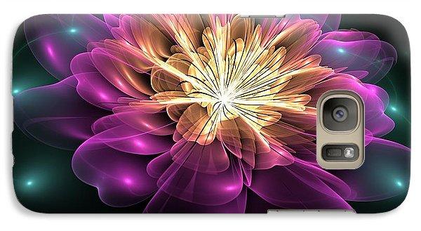 Galaxy Case featuring the digital art Clematis Magica by Svetlana Nikolova