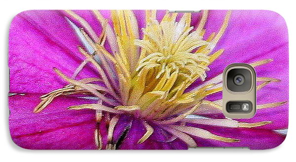 Galaxy Case featuring the photograph Clematis by Paula Tohline Calhoun