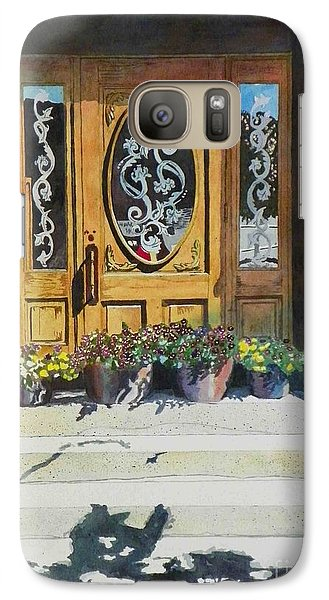 Galaxy Case featuring the painting Clementines Door by LeAnne Sowa