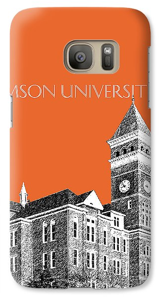 Clemson University - Coral Galaxy S7 Case by DB Artist