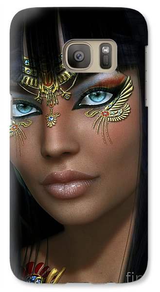 Galaxy Case featuring the digital art Cleo H by Shadowlea Is