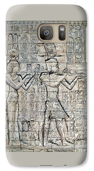 Galaxy Case featuring the painting Cleopatra And Caesarion by Leena Pekkalainen