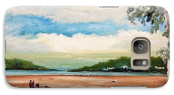 Galaxy Case featuring the painting Cleveland by Helen Syron