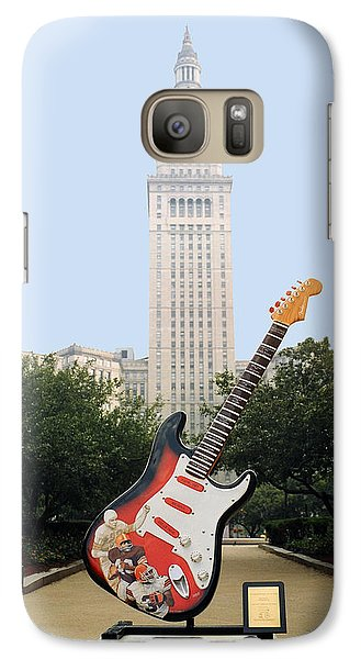 Galaxy Case featuring the photograph Cleveland Rocks by Terri Harper
