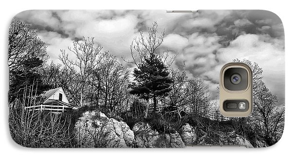 Galaxy Case featuring the photograph Cliff House B/w by Greg Jackson
