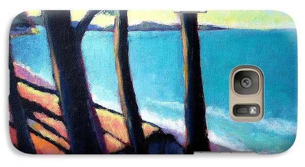 Galaxy Case featuring the painting Cliff Lookout by Angela Treat Lyon