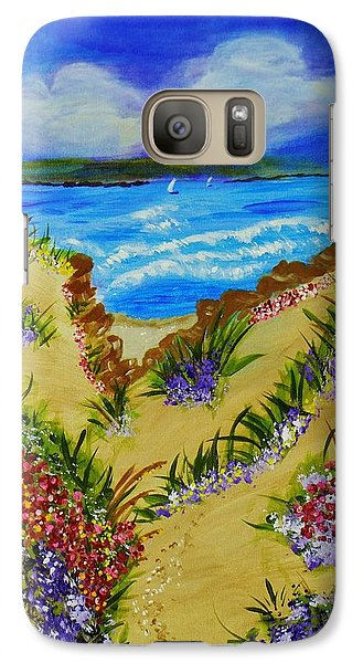 Galaxy Case featuring the painting Cliff Notes by Celeste Manning