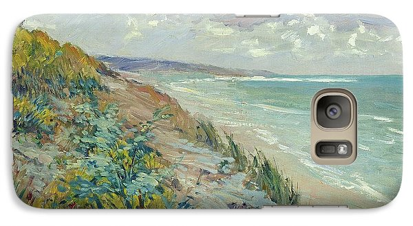 Landscape Galaxy S7 Case - Cliffs By The Sea At Trouville  by Gustave Caillebotte