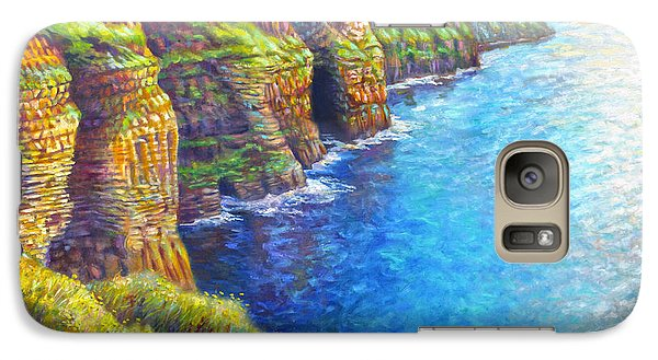 Galaxy Case featuring the painting Cliffs Of Moher by Nancy Tilles