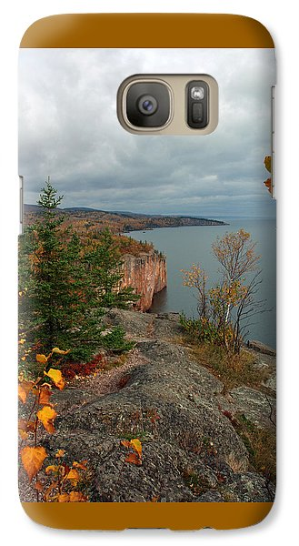 Galaxy Case featuring the photograph Cliffside Fall Splendor by James Peterson