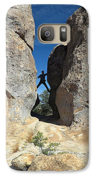 Galaxy Case featuring the photograph Climber City Of Rocks by Martin Konopacki