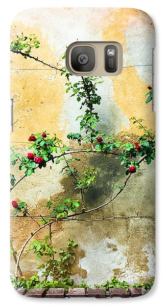 Galaxy Case featuring the photograph Climbing Rose Plant by Silvia Ganora