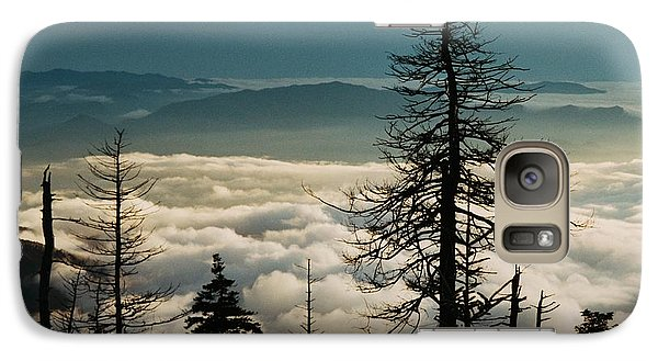 Galaxy Case featuring the photograph Clingman's Dome Sea Of Clouds - Smoky Mountains by Mountains to the Sea Photo