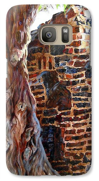 Galaxy Case featuring the painting Clinker Wall by LaVonne Hand