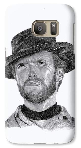 Galaxy Case featuring the drawing Clint Eastwood by Patricia Hiltz