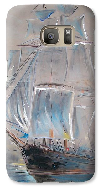 Galaxy Case featuring the mixed media Clipper In Mist by Peter Suhocke