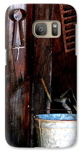 Galaxy Case featuring the photograph Clippers And The Bucket by Lesa Fine