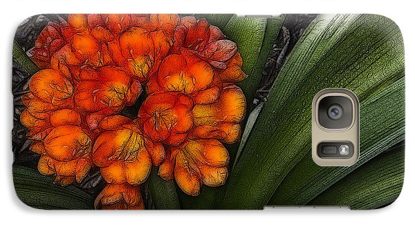 Galaxy Case featuring the digital art Clivia by Photographic Art by Russel Ray Photos