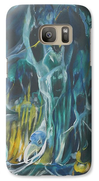 Galaxy Case featuring the painting Cloak Of The Ghoul by Christophe Ennis