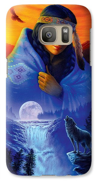 Cloak Of Visions Portrait Galaxy S7 Case by Andrew Farley
