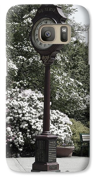 Galaxy Case featuring the photograph Clock In Park Muted by Laurie Tsemak
