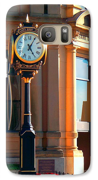 Galaxy Case featuring the photograph Clock Of New Brunswick by Gena Weiser