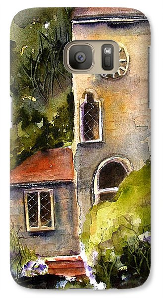 Galaxy Case featuring the painting Clock Tower England by Marti Green