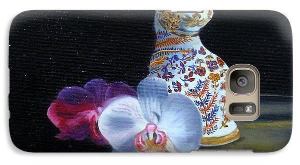 Galaxy Case featuring the painting Cloisonne Cat by LaVonne Hand