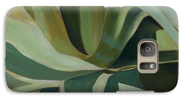 Galaxy Case featuring the painting Close Cactus by Debbie Hart