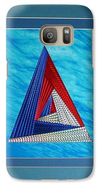 Galaxy Case featuring the mixed media Close Encounter by Ron Davidson