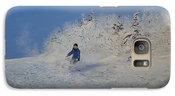 Galaxy Case featuring the painting Close To The Boarder by Ken Ahlering