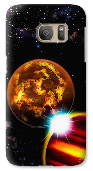 Galaxy Case featuring the photograph Close Together Far Apart by Naomi Burgess