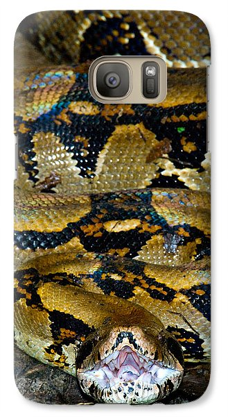 Close-up Of A Boa Constrictor, Arenal Galaxy S7 Case by Panoramic Images