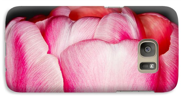 Galaxy Case featuring the photograph Close-up Of A Pink Tulip by Nick  Biemans