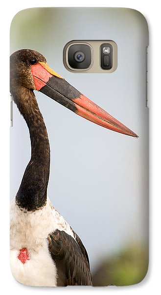 Close-up Of A Saddle Billed Stork Galaxy S7 Case by Panoramic Images