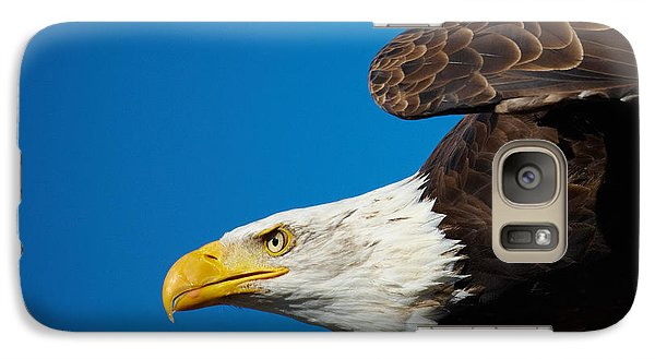 Galaxy Case featuring the photograph Close-up Of An American Bald Eagle In Flight by Nick  Biemans