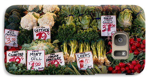 Close-up Of Pike Place Market, Seattle Galaxy S7 Case by Panoramic Images
