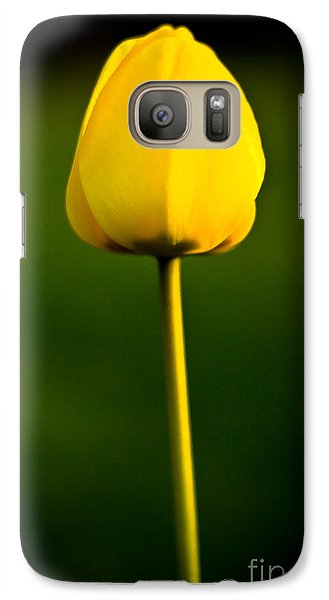 Galaxy Case featuring the photograph Closed Yellow Flower by John Wadleigh