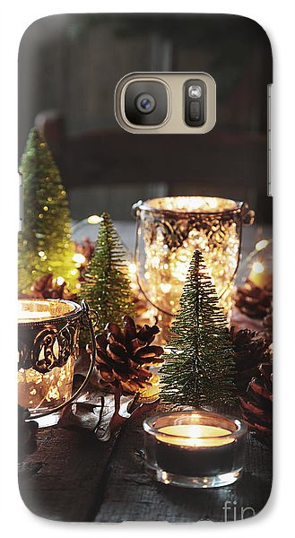 Galaxy Case featuring the photograph Closeup Of Candles And Decorations For The Holidays by Sandra Cunningham