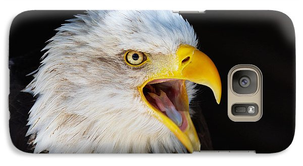 Galaxy Case featuring the photograph Closeup Portrait Of A Screaming American Bald Eagle by Nick  Biemans