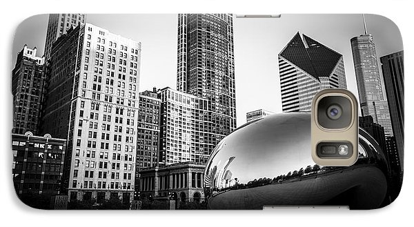 Cloud Gate Bean Chicago Skyline In Black And White Galaxy S7 Case