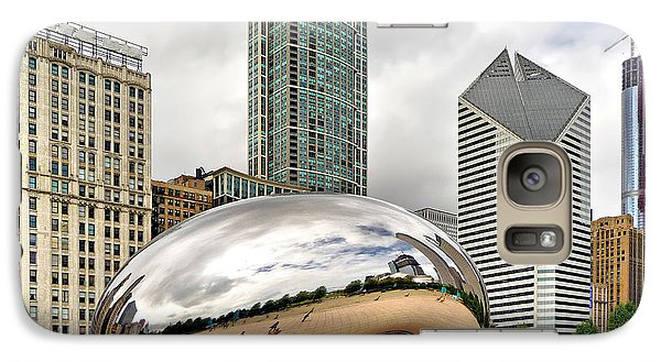Galaxy Case featuring the photograph Cloud Gate In Chicago by Mitchell R Grosky