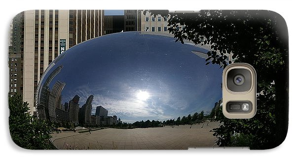 Galaxy Case featuring the photograph Cloud Gate by Tannis  Baldwin