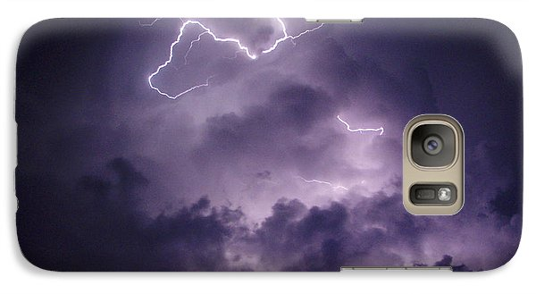 Galaxy Case featuring the photograph Cloud Lightning by James Peterson