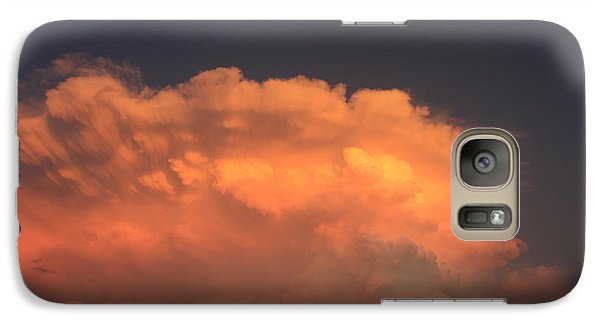 Galaxy Case featuring the photograph Cloud On Fire by Jerry Bunger