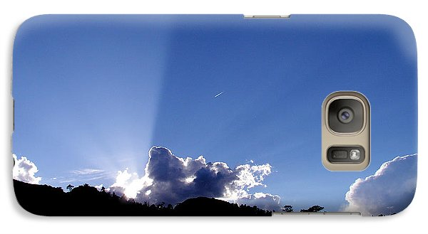 Galaxy Case featuring the photograph Cloud Rays by Craig T Burgwardt